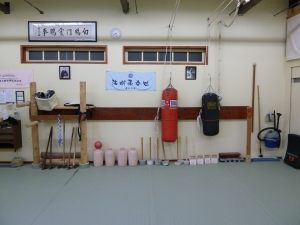 Back wall of the dojo later on