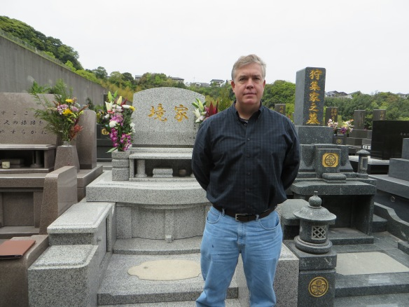 At the Sakai family grave site.