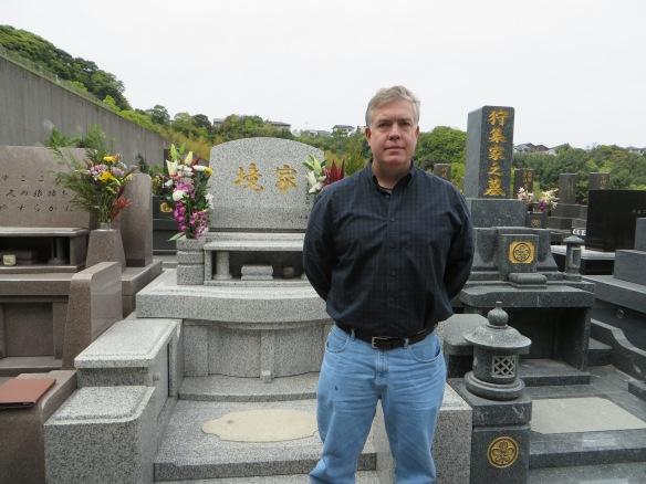 At the Sakai family grave site.