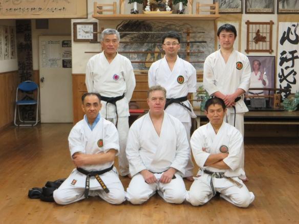 Rushikaikan Bottom Row: Sakai Ryuichiro, Fred Lohse, Miyagi Tatsuhiko