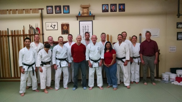 At the dojo with Kimo sense and a lot of old friends.