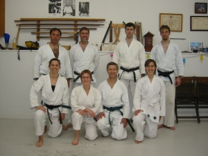 Training in David's garage, 2004