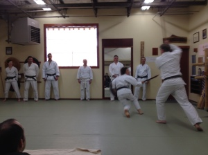 Friends and Family Demo at the dojo in 2014
