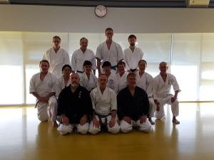 With Mario sensei's students. What a great group!